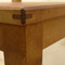 view of the bar stool reinforced mitre woodjoint