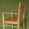 Senior chair in Oak from the back